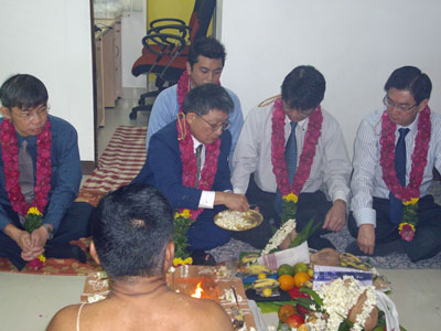 Pooja ceremony at TIPL